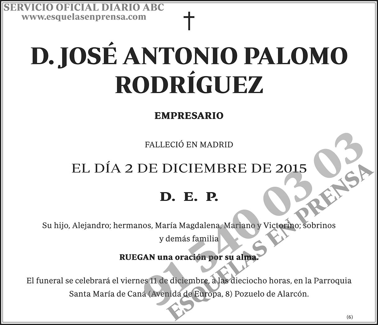 José Antonio Palomo Rodríguez